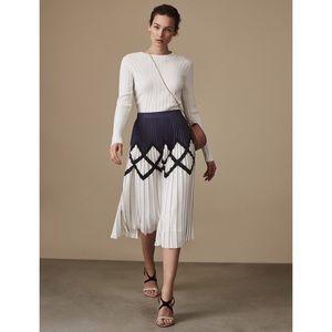 Reiss Elsa Knife Pleated Printed Midi Skirt 4